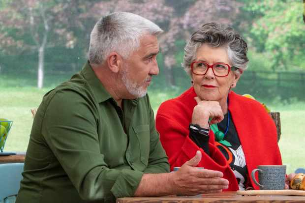 Paul Hollywood and Prue Leith on The Great British Bake Off