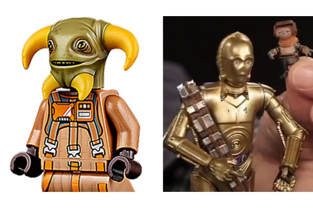 New Star Wars characters Boolio and Babu Frik, as revealed during the Triple Force Friday livestream event (Disney)