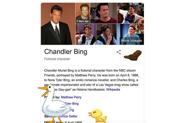Friends Google easter eggs (screenshot)