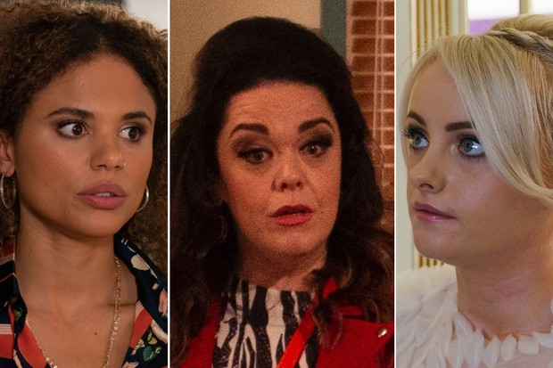 Chantelle on EastEnders, Mandy on Emmerdale, Sinead on Coronation Street