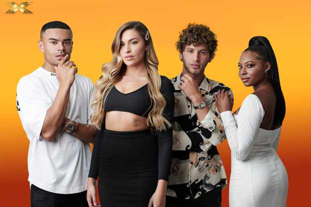 From Syco / Thames  The X Factor: Celebrity on ITV  Pictured: The Islanders [Wes Nelson, Zara McDermott, Eyal Booker and Samira Mighty].  This photograph is (C) Syco/Thames/ITV and can only be reproduced for editorial purposes directly in connection with the programme or event mentioned above, or ITV plc. Once made available by ITV plc Picture Desk, this photograph can be reproduced once only up until the transmission [TX] date and no reproduction fee will be charged. Any subsequent usage may incur a fee. This photograph must not be manipulated [excluding basic cropping] in a manner which alters the visual appearance of the person photographed deemed detrimental or inappropriate by ITV plc Picture Desk.  This photograph must not be syndicated to any other company, publication or website, or permanently archived, without the express written permission of ITV Picture Desk. Full Terms and conditions are available on the website www.itv.com/presscentre/itvpictures/terms  For further information please contact: james.hilder@itv.com / 0207 157 3052