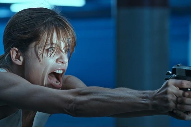 Linda Hamilton as Sarah Connor in T2: Judgement Day (Sky)