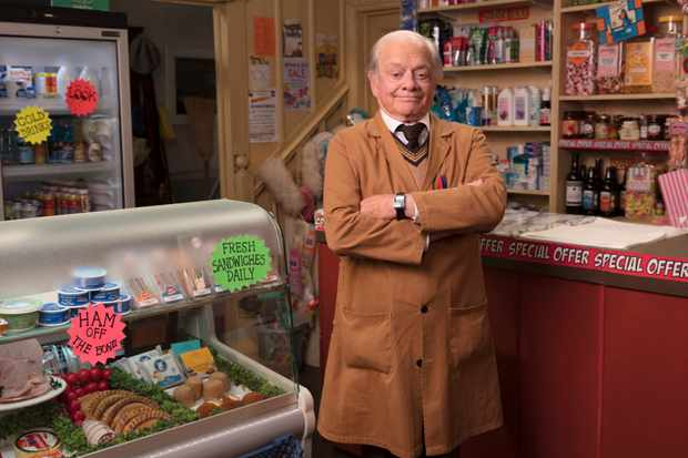 Programme Name: Still Open All Hours - TX: n/a - Episode: Generics (No. Generics) - Picture Shows:  Granville (SIR DAVID JASON) - (C) BBC Studios - Photographer: Gary Moyes