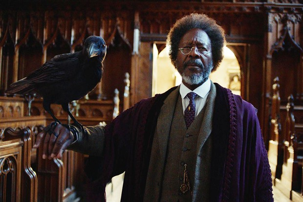 Clarke Peters as The Master with his dæmon in His Dark Materials (BBC)