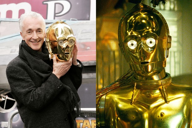 Anthony Daniels as and with C-3PO (Getty, LucasFilm)