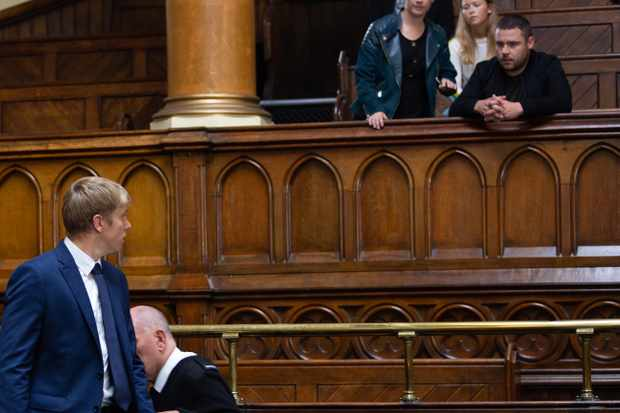 emmerdale robert sugden in court