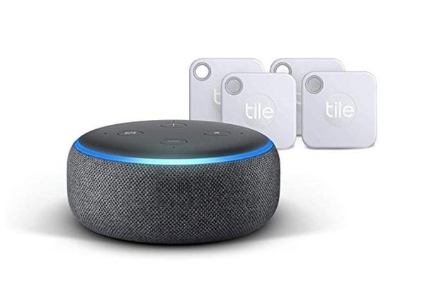 Amazon Echo Dot and Tile Tracker