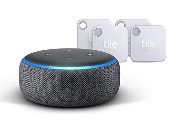 Amazon Echo Dot and Tile Tracker