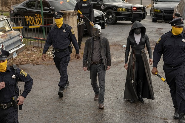 Tim Blake Nelson and Regina King in Watchmen (HBO, Sky Atlantic)
