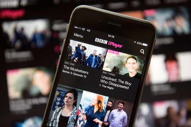 LONDON, ENGLAND - AUGUST 02:  In this photo illustration, the BBC iPlayer app is displayed on an iPhone on August 2, 2016 in London, England. The BBC has announced that iPlayer users will have to pay a 145GBP TV licence fee from 1 September.  (Photo Illustration by Carl Court/Getty Images)