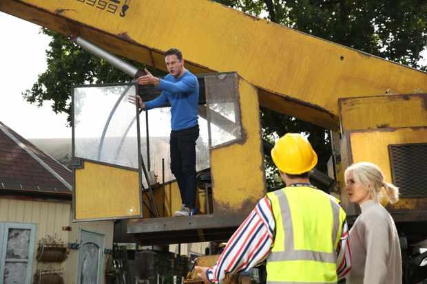 Hollyoaks stunt week Luke Morgan
