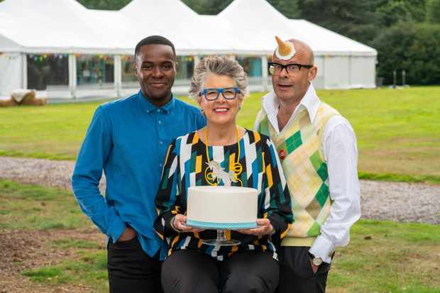 With Liam Charles, Prue Leith and Harry Hill.