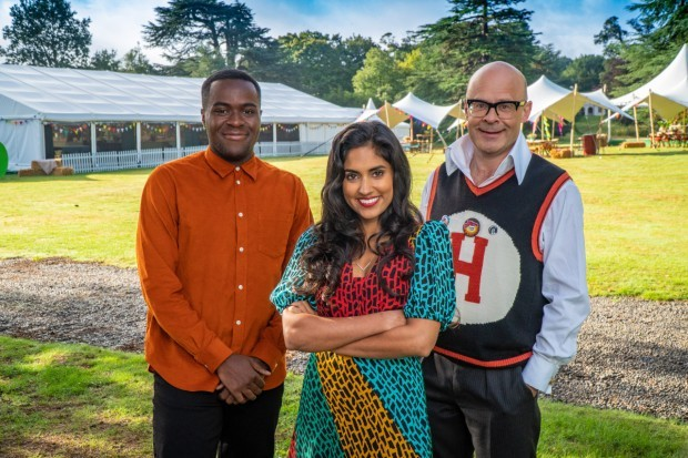 Junior Bake Off 2021 hosts Liam Charles, Ravneet Gill and Harry Hill