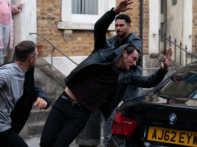 First look EastEnders pics show Martin Fowler attacked by thugs