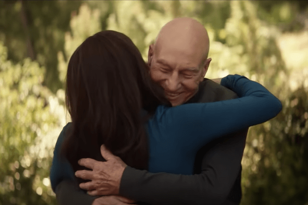 Patrick Stewart and Marina Sirtis in Star Trek: Picard
