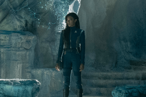 Sonequa Martin-Green as Commander Michael Burnham in Star Trek: Discovery season three (CBS)