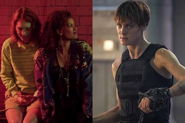 Mackenzie Davis and Gugu Mbatha-Raw in San Junipero, and Davis in Terminator: Dark Fate (Netflix, Fox)