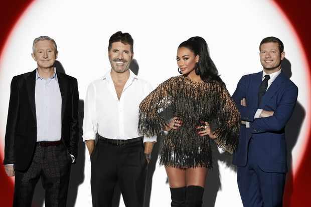 Judges Louis Walsh, Simon Cowell, Nicole Scherzinger and host Dermot O'Leary.