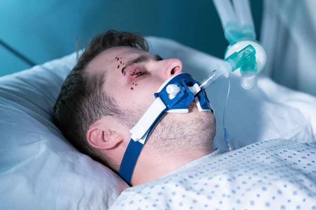 Ben Mitchell in hospital