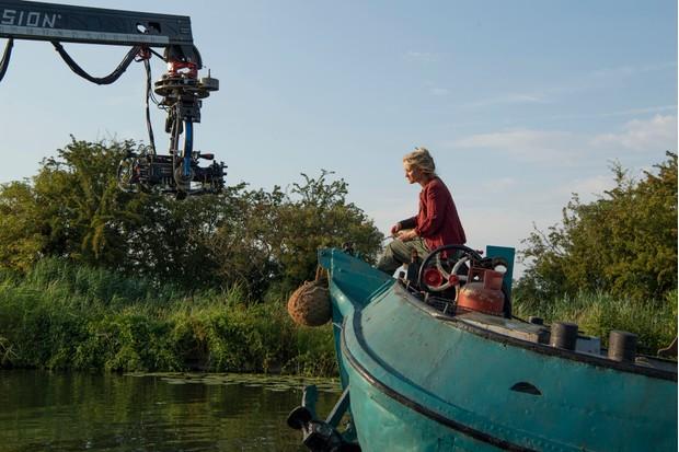 Anne-Marie Duff filming as Ma Costa (BBC)