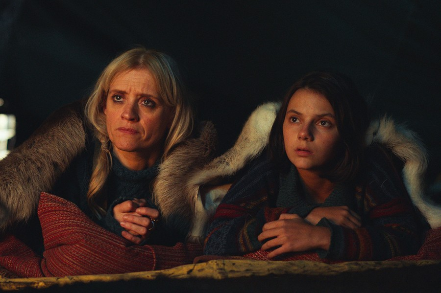 Ma Costa (Anne-Marie Duff) and Lyra (Dafne Keen) in His Dark Materials (BBC)