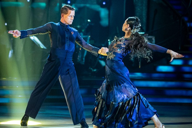 Mike Bushell and Katya Jones on Saturday night's Strictly Come Dancing (BBC)