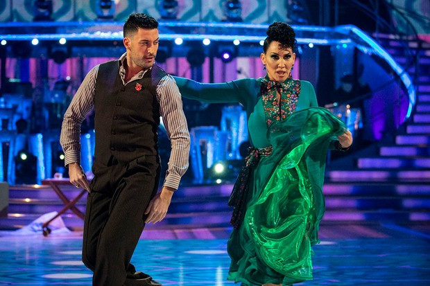 Michelle Visage and Giovanni Pernice on Saturday Night's Strictly Come Dancing (BBC)