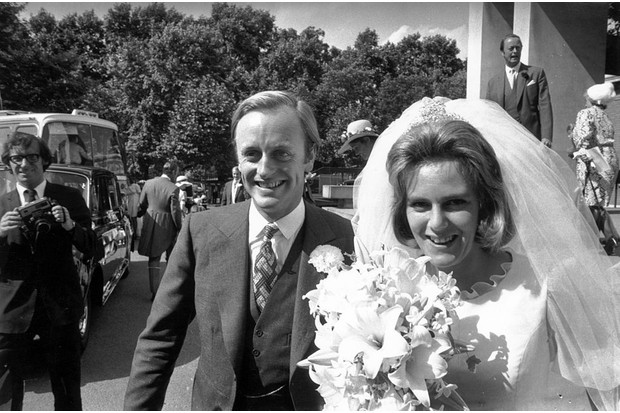 Andrew and Camilla on their wedding day