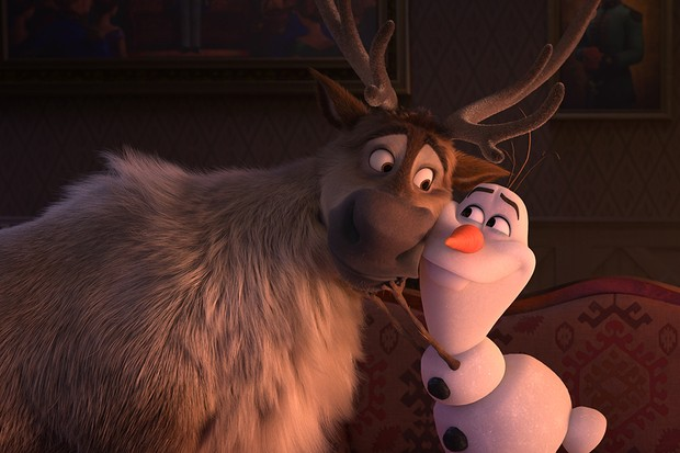"""Trusted reindeer Sven and curious snowman Olaf (voice of Josh Gad) are up for an adventure in """"Frozen 2."""" They join Kristoff, Anna and Elsa on a journey into the unknown in search of answers about the past. From the Academy Award®-winning team—directors Jennifer Lee and Chris Buck, producer Peter Del Vecho and songwriters Kristen Anderson-Lopez and Robert Lopez—Walt Disney Animation Studios' """"Frozen 2"""" opens in U.S. theaters on Nov. 22, 2019. © 2019 Disney. All Rights Reserved."""