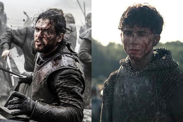 Kit Harington as Jon Snow, Timothée Chalamet as Hal (HBO, Netflix)