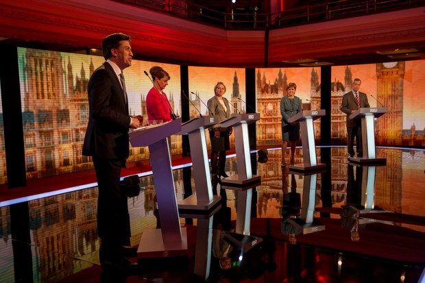 The Live BBC Election Debate 2015 at Central Hall Westminster on April 16, 2015 (Getty Images)