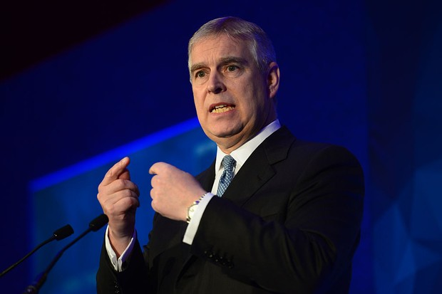 LONDON, ENGLAND - DECEMBER 1:  Prince Andrew, Duke of York speaks during the London Global African Investment Summit at St James' Palace on December 1, 2015 in London, England. (Photo by Anthony Devlin-WPA Pool/Getty Images)