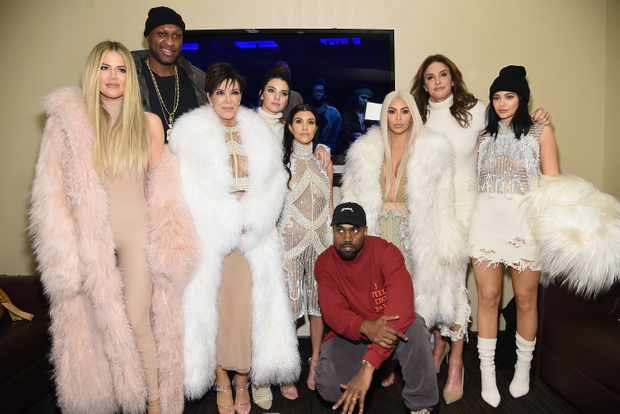Caitlyn Jenner with Kardashians (Getty)