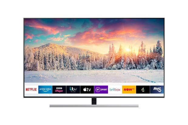Samsung QE55Q80RATXXU 55 Smart 4K Ultra HD HDR QLED TV with Bixby