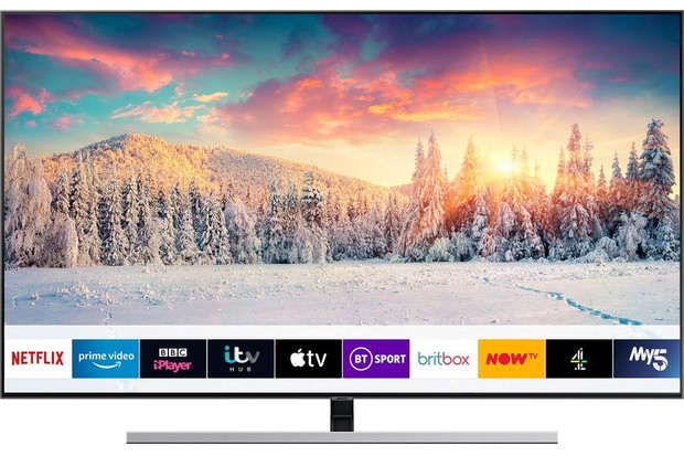 Samsung QE55Q80RATXXU 55 Smart 4K Ultra HD HDR QLED TV with Bixby