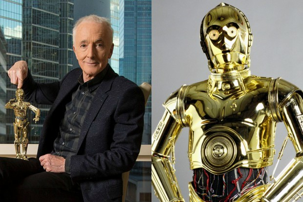 Anthony Daniels as and with C-3PO (Getty, Sky)