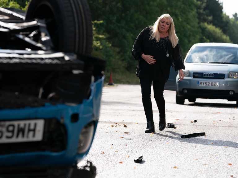 First look at Mel Owen car crash aftermath in EastEnders