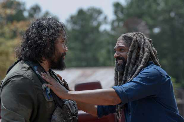 Cooper Andrews as Jerry, Khary Payton as Ezekiel - The Walking Dead _ Season 10, Episode 4 - Photo Credit: Gene Page/AMC