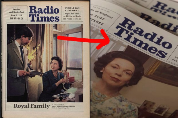 The Crown Radio Times cover