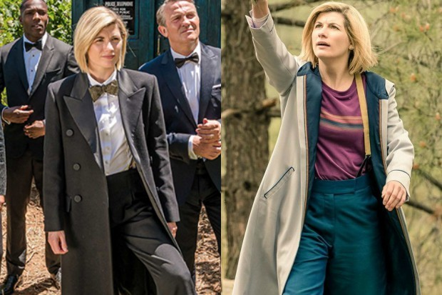 Jodie Whittaker in two versions of her Doctor Who costume (BBC)