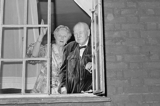 Winston And Clementine Churchill in 1963