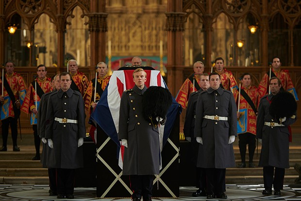 Winston Churchill's funeral in The Crown season 3 (Netflix)