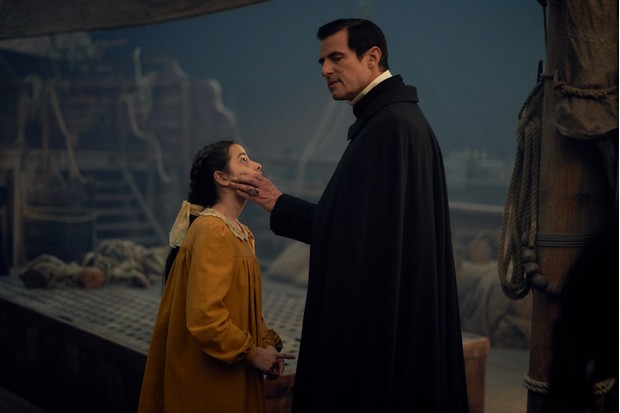 WARNING: Embargoed for publication until 00:00:01 on 07/12/2019 - Programme Name: Dracula - TX: n/a - Episode: Dracula - episode 2 (No. n/a) - Picture Shows: Yamini (LILY KAKKAR), Dracula (CLAES BANG) - (C) Hartswood Films - Photographer: Robert Viglasky