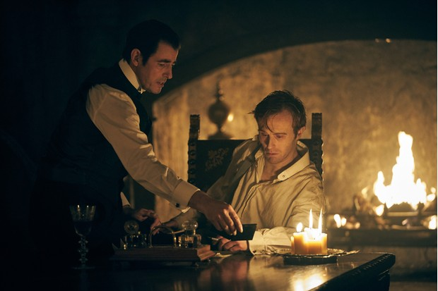 WARNING: Embargoed for publication until 00:00:01 on 07/12/2019 - Programme Name: Dracula - TX: n/a - Episode: Dracula - episode 1 (No. n/a) - Picture Shows: Dracula (CLAES BANG), Jonathan (JOHN HEFFERNAN) - (C) Hartswood Films - Photographer: Robert Viglasky
