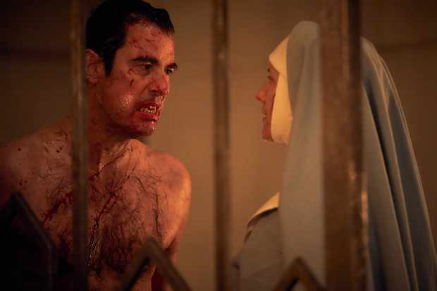 Dracula (Claes Bang) and Sister Agatha (Dolly Wells)