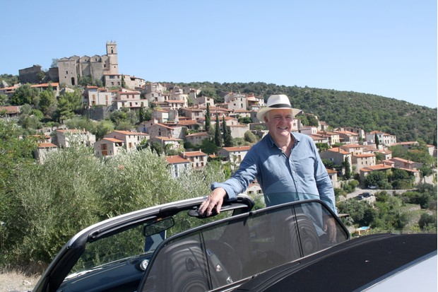 Programme Name: Rick Stein's Secret France - TX: n/a - Episode: n/a (No. 5) - Picture Shows: explores the foothills of the Pyrenees near the village of Eus – reputedly the sunniest place in France. Rick Stein - (C) Denham Productions - Photographer: Arezoo Farahzad