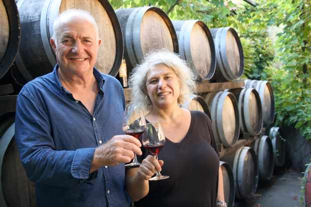 Programme Name: Rick Stein's Secret France - TX: n/a - Episode: n/a (No. 5) - Picture Shows: and wine maker, Laetitia Pietri-Clara, sample her popular Banyul wines in the town of Collioure. Rick Stein - (C) Denham Productions - Photographer: Arezoo Farahzad