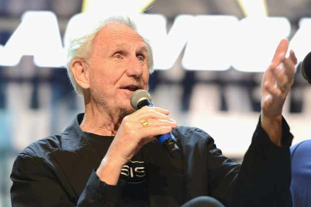 LAS VEGAS, NV - AUGUST 05:  Actor/director Rene Auberjonois speaks at the 'Director's Cut' panel during the 17th annual official Star Trek convention at the Rio Hotel & Casino on August 5, 2018 in Las Vegas, Nevada.  (Photo by Albert L. Ortega/Getty Images)