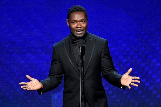BEVERLY HILLS, CALIFORNIA - NOVEMBER 08: David Oyelowo speaks onstage during the 33rd American Cinematheque Award Presentation Honoring Charlize Theron at The Beverly Hilton Hotel on November 08, 2019 in Beverly Hills, California. (Photo by Frazer Harrison/Getty Images)