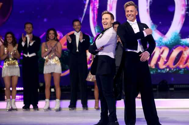 Dancing On Ice H and Matt evers (Getty)